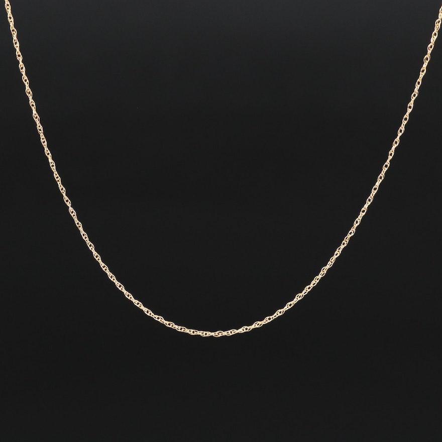 18K Singapore Chain Link Necklace