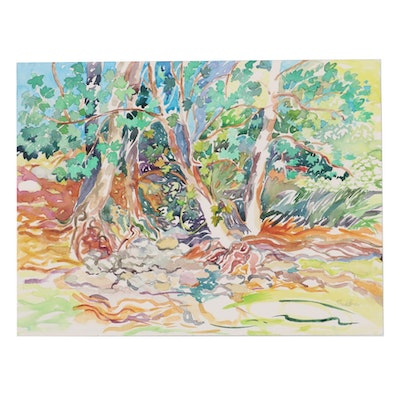 """Sheila Bonser Watercolor Painting """"September Colors,"""" 2017"""