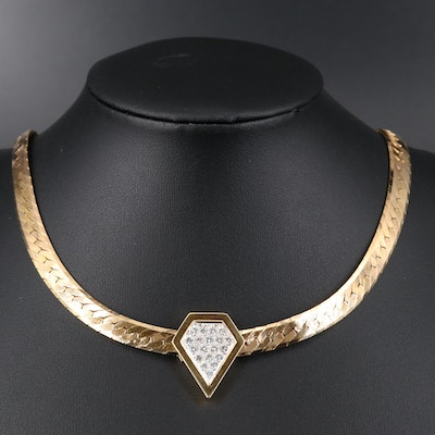 14K 1.04 CTW Diamond Necklace