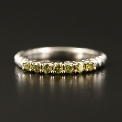 Sterling Diamond Twisted Ring