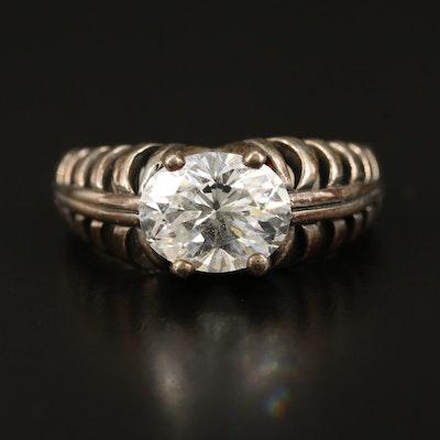 Kabana Sterling Cubic Zirconia Openwork Ring