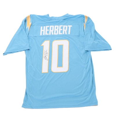 Justin Herbert Signed Los Angeles Chargers Replica Jersey, COA