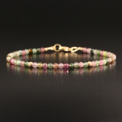 Gold Filled Tourmaline Bracelet