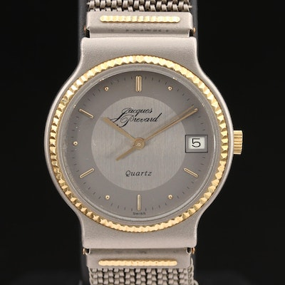 Jacques Prevard 18K Gold and Titanium Quartz Wrsitwatch