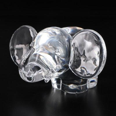 "Steuben Art Glass ""Elephant"" Figurine Designed by John Dreves, 1941"