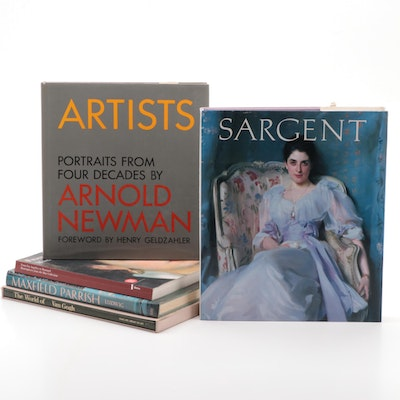 Art Reference Books Including John Singer Sargent and Maxfield Parrish