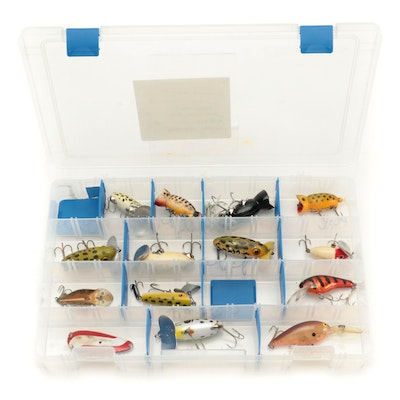 """Fishing Lures Including """"Fred Arbogast Jitterbugs"""", Mid-20th Century"""