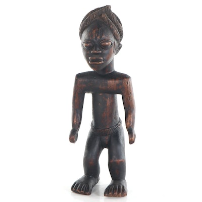 Yoruba Style Carved Wood Figure, West Africa