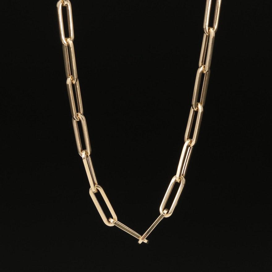 14K Oval Link Necklace