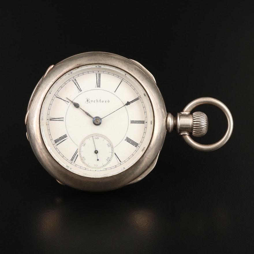 1889 Rockford Sidewinder Pocket Watch
