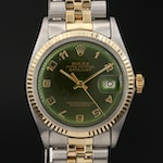 1969 Rolex Datejust 1601 Stainless Steel and 18K Gold Automatic Wristwatch