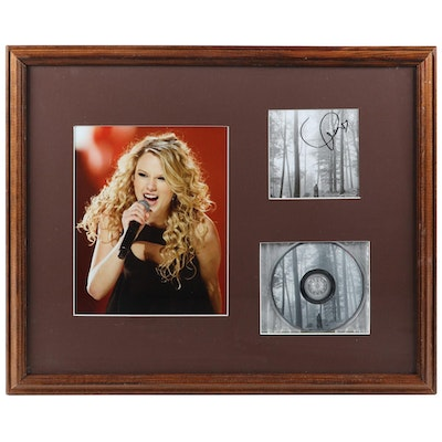 Taylor Swift Signed Display, COA