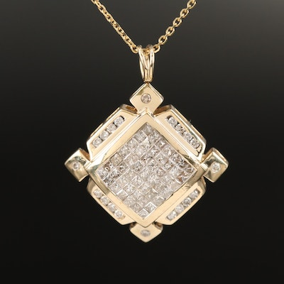 14K 1.52 CTW Diamond Necklace
