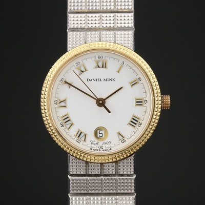 Daniel Mink 1900 Stainless Steel and 18K Gold Quartz Wristwatch