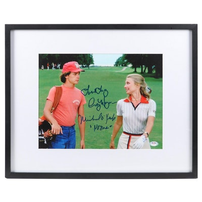 "Michael O'Keefe and Cindy Morgan Signed ""Caddyshack"" Photo Print with COA"