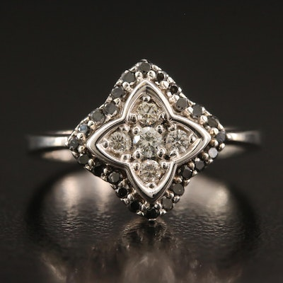 18K Diamond Quatrefoil Ring