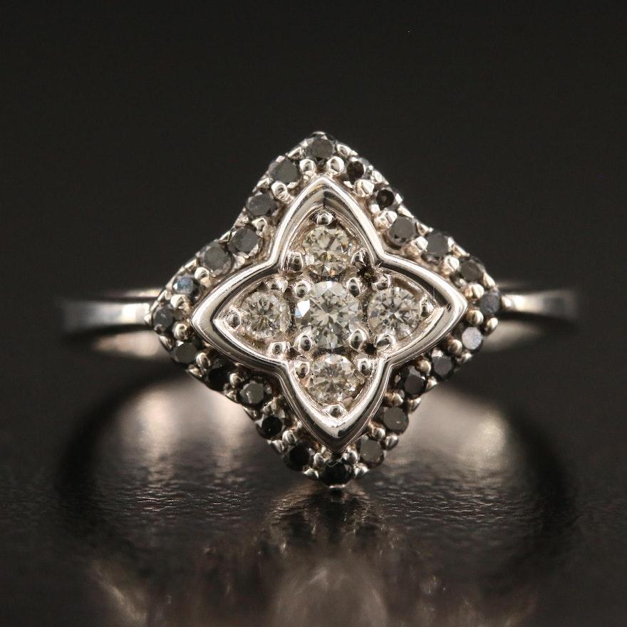 18K Diamond Quatrefoil Ring