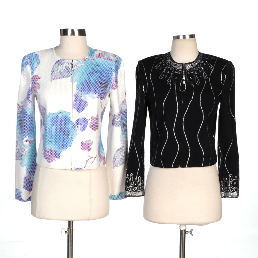 St. John Evening and St. John Embellished Knit Jackets
