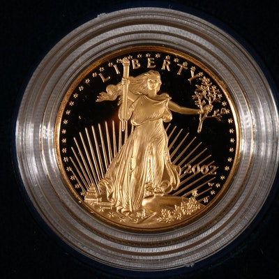 2002-W $10 1/4 Troy Ounce American Eagle Proof Gold Bullion Coin