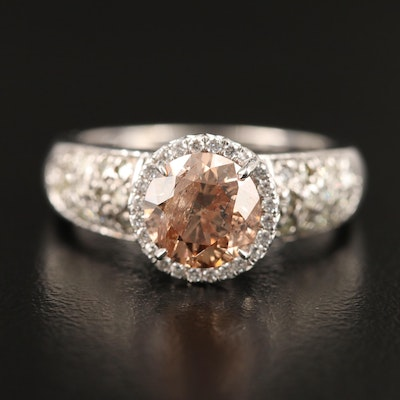 14K 1.98 CTW Diamond Halo Ring