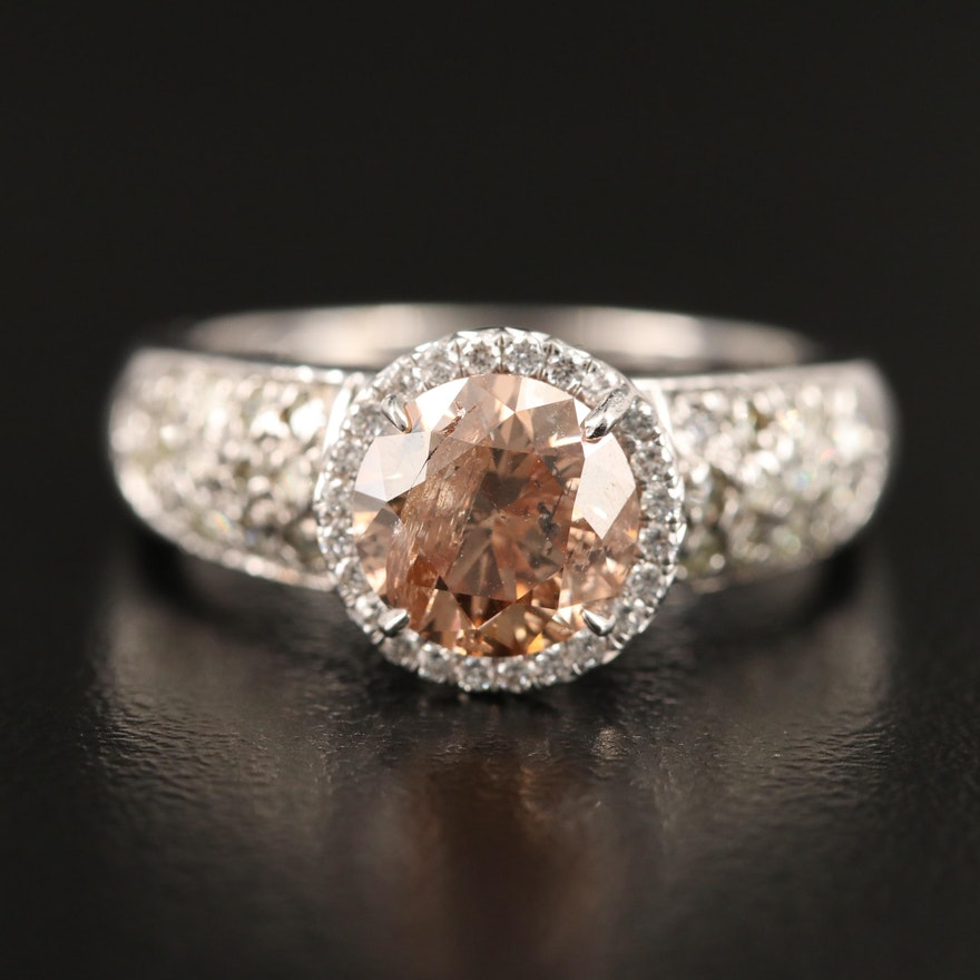14K 1.98 CTW Diamond Halo Ring