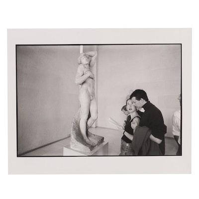"William D. Wade Silver Gelatin Photograph ""Comparing Michelangelo,"" 1993"