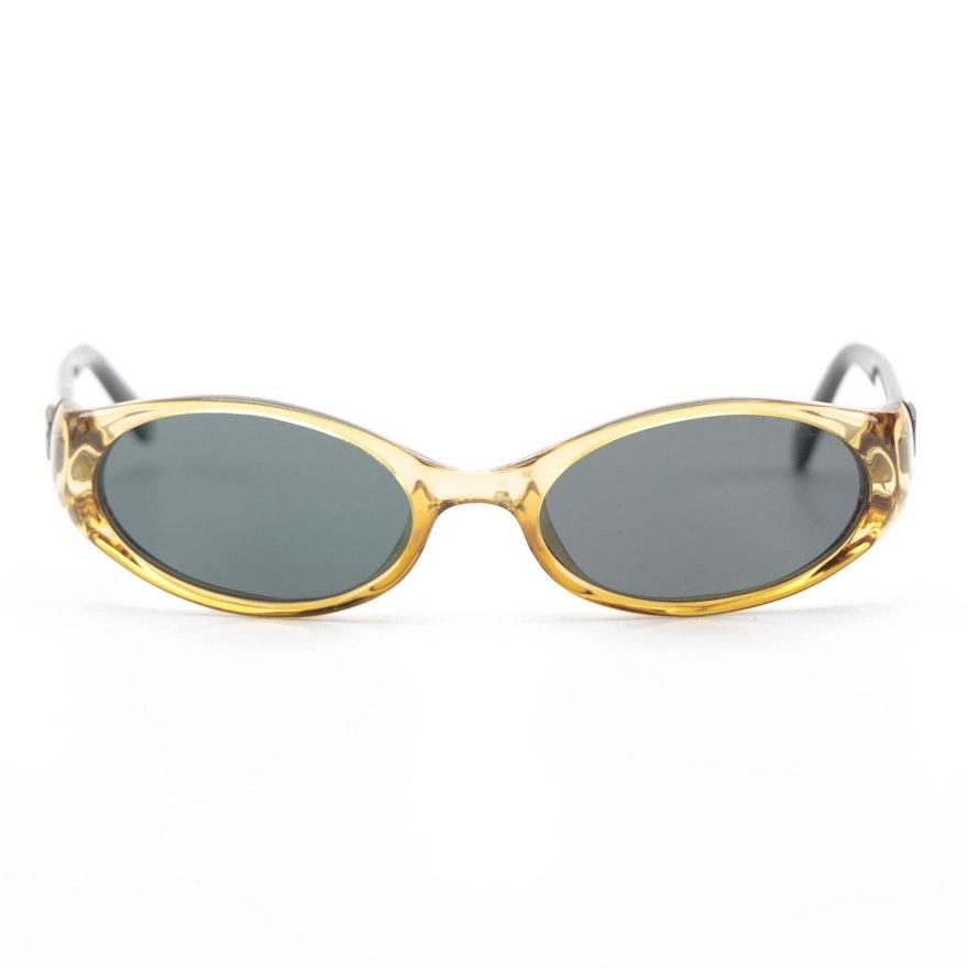 Gucci 2457 Amber Smoke Oval Sunglasses
