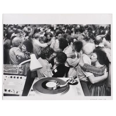 "William D. Wade Silver Gelatin Photograph ""Single's Dance"", 1986"
