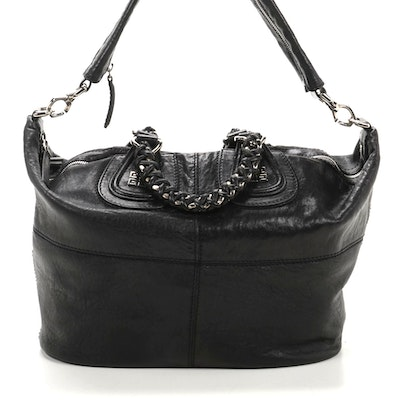 Givenchy Medium Chain Wrap Nightingale Satchel in Black Leather
