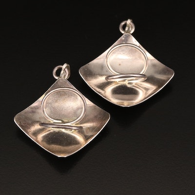 Sterling Abstract Pendants