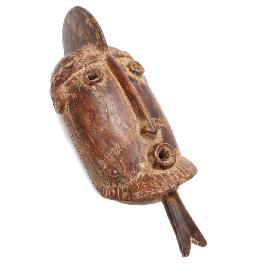 Dogon Inspired Carved Wood Mask, West Africa