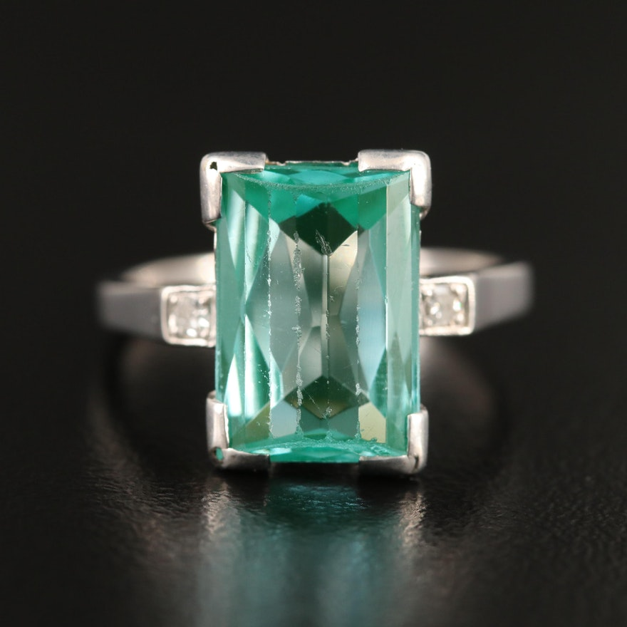 14K Spinel and Diamond Ring