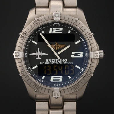 Breitling Aerospace U2 Dial Titanium Quartz Wristwatch