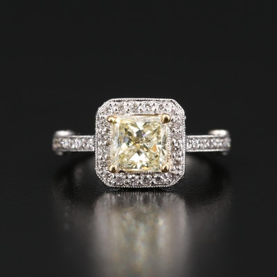 Platinum 1.79 CTW Diamond Ring
