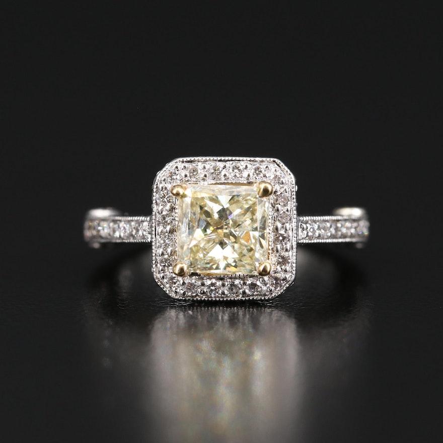 Platinum 1.79 CTW Diamond Ring