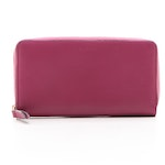 Gucci Zip Around Wallet in Magenta Smooth Leather