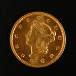 1851 Liberty Head Type I Gold Dollar