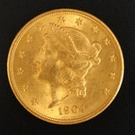 1904 Liberty Head $20 Gold Double Eagle