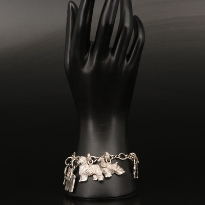 Fine Arf Dogs by Lisa Greene Sterling Dog Charm Bracelet