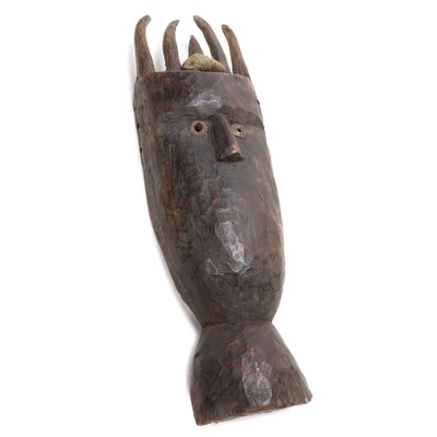 Toma Inspired Wooden Mask, West Africa