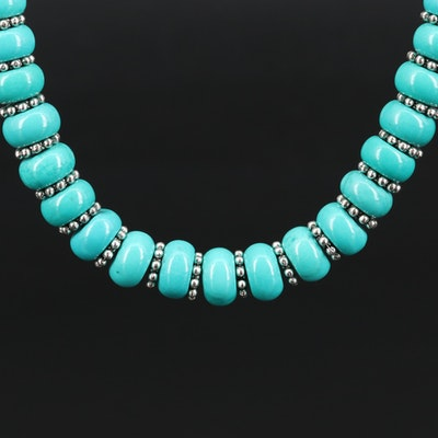 Beaded Howlite Necklace