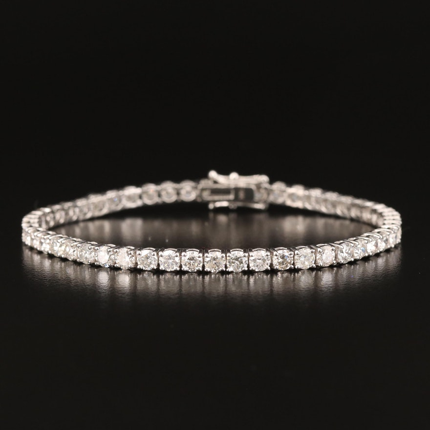 14K 7.56 CTW Diamond Line Bracelet