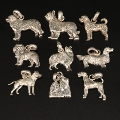 Fine Arf Dogs by Lisa Greene Sterling Dog Pendants