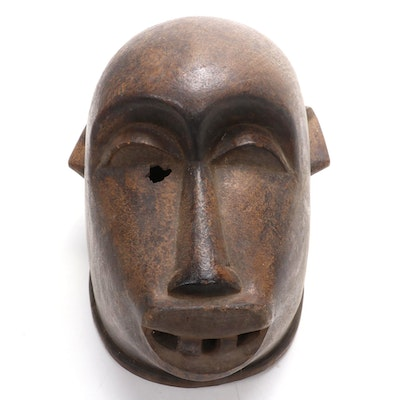 Makonde Style Wooden Mask with Animal Motif, East Africa