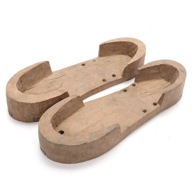 Middle Eastern Style Wooden Sandals