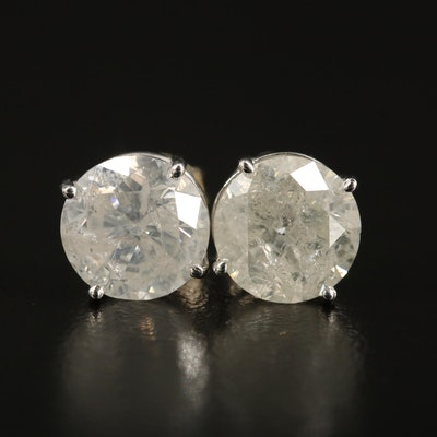 14K 4.42 CTW Diamond Stud Earrings