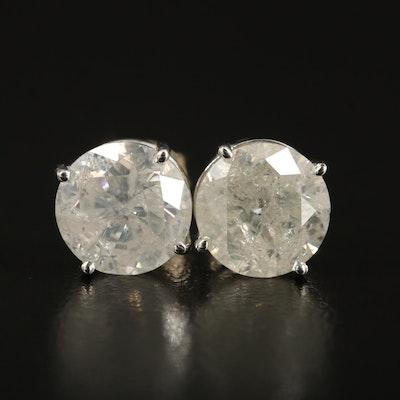 14K 4.42 CTW Diamond Stud Earrings