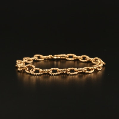 14K Twisted Cable Link Bracelet