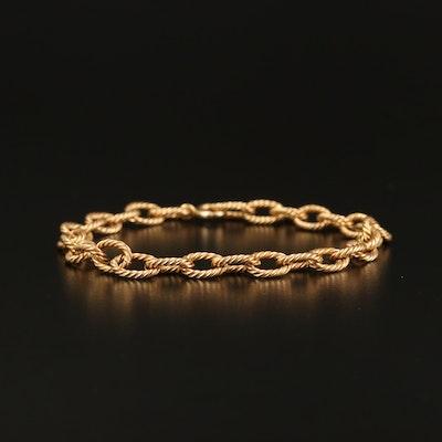 14K Twisted Cable Link Bracelet
