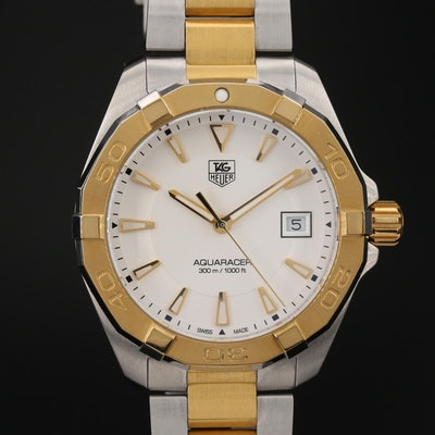 TAG Heuer Aquaracer Two-Tone Stainless Steel Quartz Wristwatch